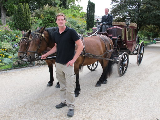 Dan Snow with a horse and carriage